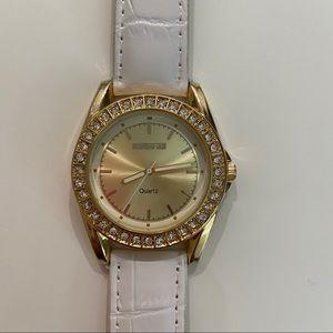 Manhattan by Croton Crystal Bezel Watch